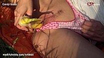 MyDirtyHobby - Horny blonde amateur fucks herself with a banana Vorschaubild