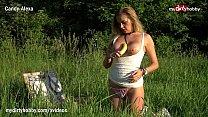 Image: MyDirtyHobby - Horny blonde amateur fucks herself with a banana