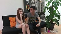 18yo tight redhead pale skinned teen is crazy for doing blowjobs any time to her boyfriend thumbnail