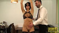 Tied up and blindfolded fetish milf