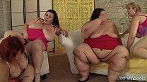 Fat and horny BBWs Amazon Darjeeling, Apple Bomb, Lady Lynn and Sweet Cheeks har Vorschaubild