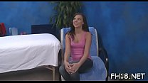 Sexy 18 year old babe gets fucked hard by her massage therapist Thumbnail