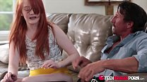 Krystal Orchid is a cute ginger teen with braces who is just at home studying a big cock - FULL SCENE ON http://TeenBracesPorn.com