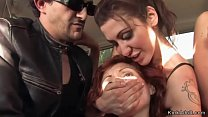 Redhead banged outdoor in public's Thumb