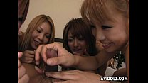Charming And Cute Asian Bitches Sucking On A Dick