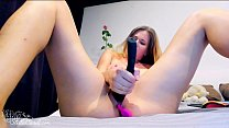 Girl Shows Pussy Closeup and Fingering Sex Toys - Solo صورة