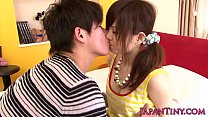 Asian pornstar Miku Airi gets tits jizzed on porn image