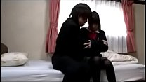 Schoolgirl On Her Knees Giving Blowjob For Schoolguy Cum To Mouth Spitting To Palm On The Carpet In The Room