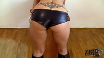 Hot Fuck In Leher Shorts and Boots! - 9Club.Top