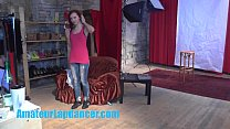 Gorgeous 18yo redhead shows body at her first C...