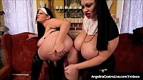 Bbws angelina castro amp virgo peridot give bbc a hot footjob 9