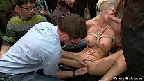 Big Tits Blonde Disgraced In Public