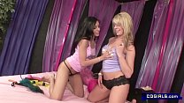 two hotties get it on before they start playing with sex machines