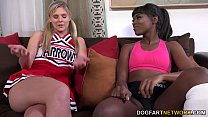 Ana Foxxx And S carlet Red Having An Interraci ng An Interracial Lickfest