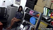 Lp Officer feasting on Vienna Black caramel body and squeezes her big titties Preview