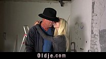 Old repairman fucking boss teen hot daughter at work image