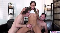 Bisex threesome with a naughty Step Dad - Naomi Bennet and Andy West