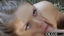 Naughty Teen Ass Spanking by Grandpa And Kiss Fucked with cumshot swallow Vorschaubild
