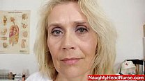 Blonde curvicious mature nurse