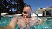 Alison Tyler swims and masturbates in the pool's Thumb