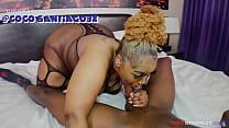 bbw Coco Santiago spits and slobs all over Slink Andrews big black cock Image