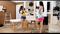 Curvaceous brunette chick Holly Michaels gets shaved muff fucked's Thumb