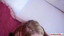 Busty blonde MILF Rachael Cavalli fucked by a n...