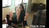 Enjoyable playgirl smoking
