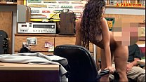 Tattooed woman drilled at the pawnshop Thumbnail