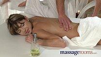 Massage Rooms Skinny petite teen enjoys having tight hole explored thumbnail