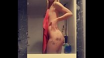 Slurry Summer having fun after her shower