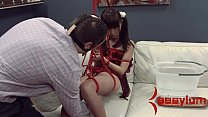 Tiny Asian Marika Hase gets abusive anal therapy thumb