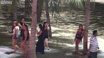 Pattaya Beach Walk NASTY MILF jerks me off and I cum into her waiting mouth for 500 Baht