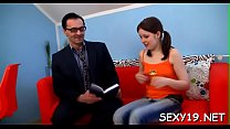 Wild and mind-blowing lesson with horny older teacher's Thumb