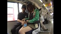 Japanese Public Asian Sex in the Train - 9Club.Top