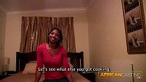 First Time Anal for African Sweetheart By Huge White Dick image