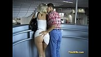 german couple fucks at the train Thumbnail