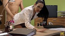 LOAN4K. Brunette babe gives pussy to agent to buy musical equipment