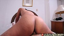 Asian Sex Diary - Horny Filipina MILF gets creampie from white tourist preview image