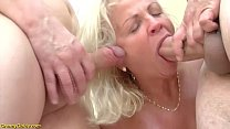 crazy 73 years old grannies first double penetration