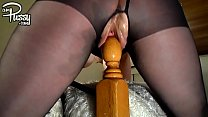 Amateur girl is playing with vibrator and squirts