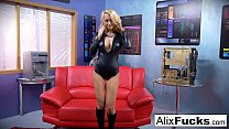 Image: Blonde babe Alix Lynx sucks off the cameraman