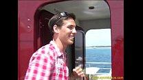 Solo Dominik On A Boat's Thumb