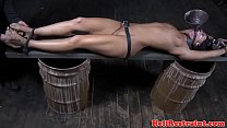 Tickled restrained submissive waterboarded video