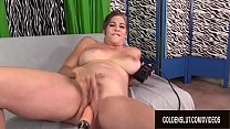 Gorgeous Mature Jade Blissette Gets Her Hairy Pussy Drilled by a Machine's Thumb