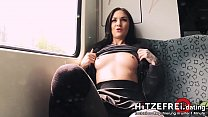 HITZEFREI.dating PUBLIC German Girl Nude in Subway & Fucked at the Train Station