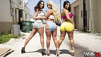 BANGBROS - Rose Monroe, Brandi Bae and Ariella ... thumb