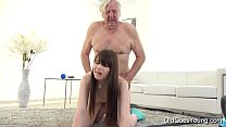 Old Goes Young - Luna Rival gets fucked while she vacuums the rug preview image