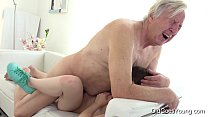 Old Goes Young - Luna Rival gets fucked while she vacuums the rug pornhub video