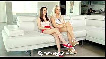 MyVeryFirstTime - Ashlee Mae & Lily Jordan first threesome video